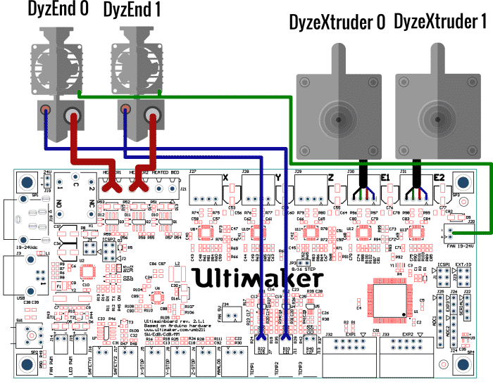 Ultimaker 2 Board Guide electronic boards dyze design ultimaker 2 wiring diagram at soozxer.org
