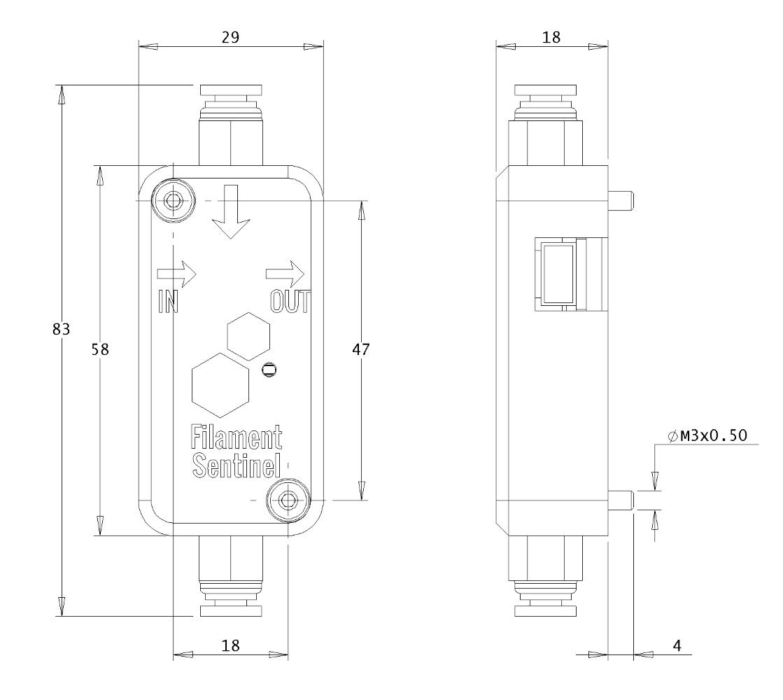 Filament Sentinel Dimensions