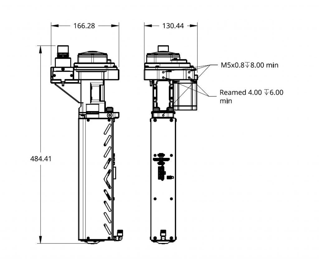 Pulsar Pellet Extruder Technical Drawing